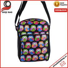 NEW MESSENGER BAG SHOULDER OWL PRINT SATCHEL CROSS BODY SIDE BAG