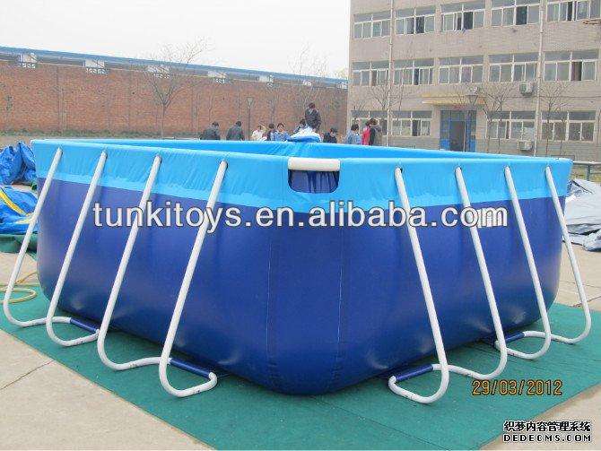Piscine armature en m tal g ant en plein air piscine for Piscine hors sol geant casino