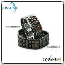 Hotsale red led digital watch lava style with led odm watch and iron samurai-japanese inspired red led watch