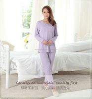 round collar popular design ladies night suits designs AK162