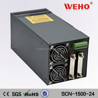 Aluminum shell 1500W smps dc 24v ac to dc regulated power supply