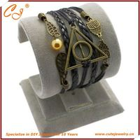 anchor and love and faith and eight in colored, Lucky Wrist Bracelet