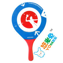 Hot selling wooden beach ball racket set with CE certificate