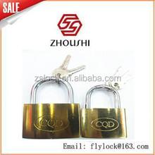 Golden flash arc padlock with computer keys