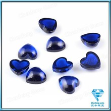 Low Price Synthetic Gemstone Material Heart Shape Cabochon Sapphire Gems
