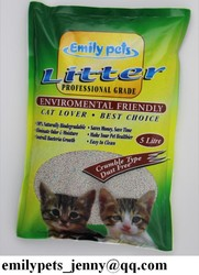 5L ball shaped bentonite PET SAND from Emiy pets in China