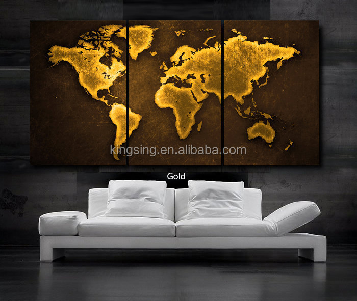 Abstract world map group canvas oil painting for wall decoration 57216g gumiabroncs Gallery