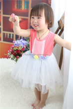 Factory direct selling new model long sleeve floral girls frock pattern