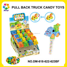 JUQI CANDY TOYS MINI SAND BEACH PULL BACK TOY W/ CANDY BAG