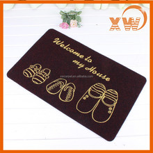 Silk screen printing front door designs fashion outdoor entrance mat