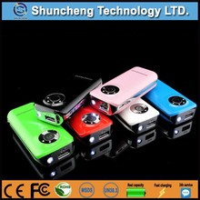 2015 fashional mul-tifunction 5600mah powerbank for gift with FM radio & mp3 & TF card function