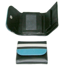Tri- Fold Black Leather Ladies Wallet/ Ladies Purse/ Easy To Carry Leather Ladies Purse