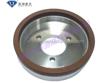 High efficiency resin bonded grinding wheel for glass processing