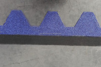 Cheap Types of Roofing Materials Blue Mosaic Bitumen Shingles