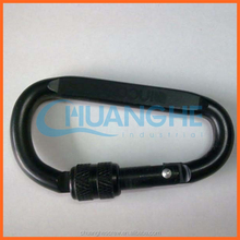 Dongguan chuanghe leather keychain with big carabiner