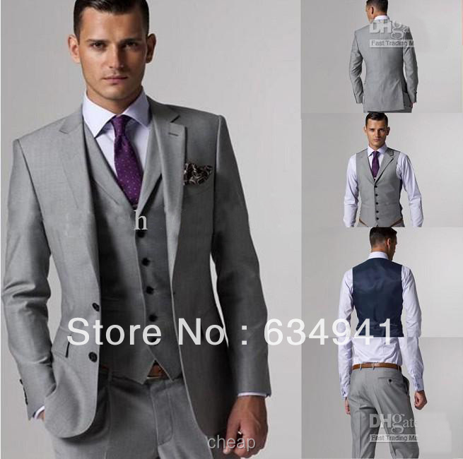 Store No.634941 Tailoring Made Latest Style Navy Blue Groom