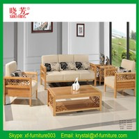 Home furniture living room bamboo wooden sofas set