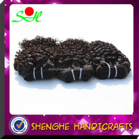 Wholesale Nature Color Kinky Curl Cheap Virgin Human Hair Weaving 26 Inch Indian Remy Hair Extensions
