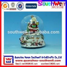 popular de nieve resina globos terráqueos personalizado santa claus navidad decoración