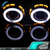 2.5inch H4 dual color angel eyes H1 aes h7 hid bi xenon hid projector lens light 35W