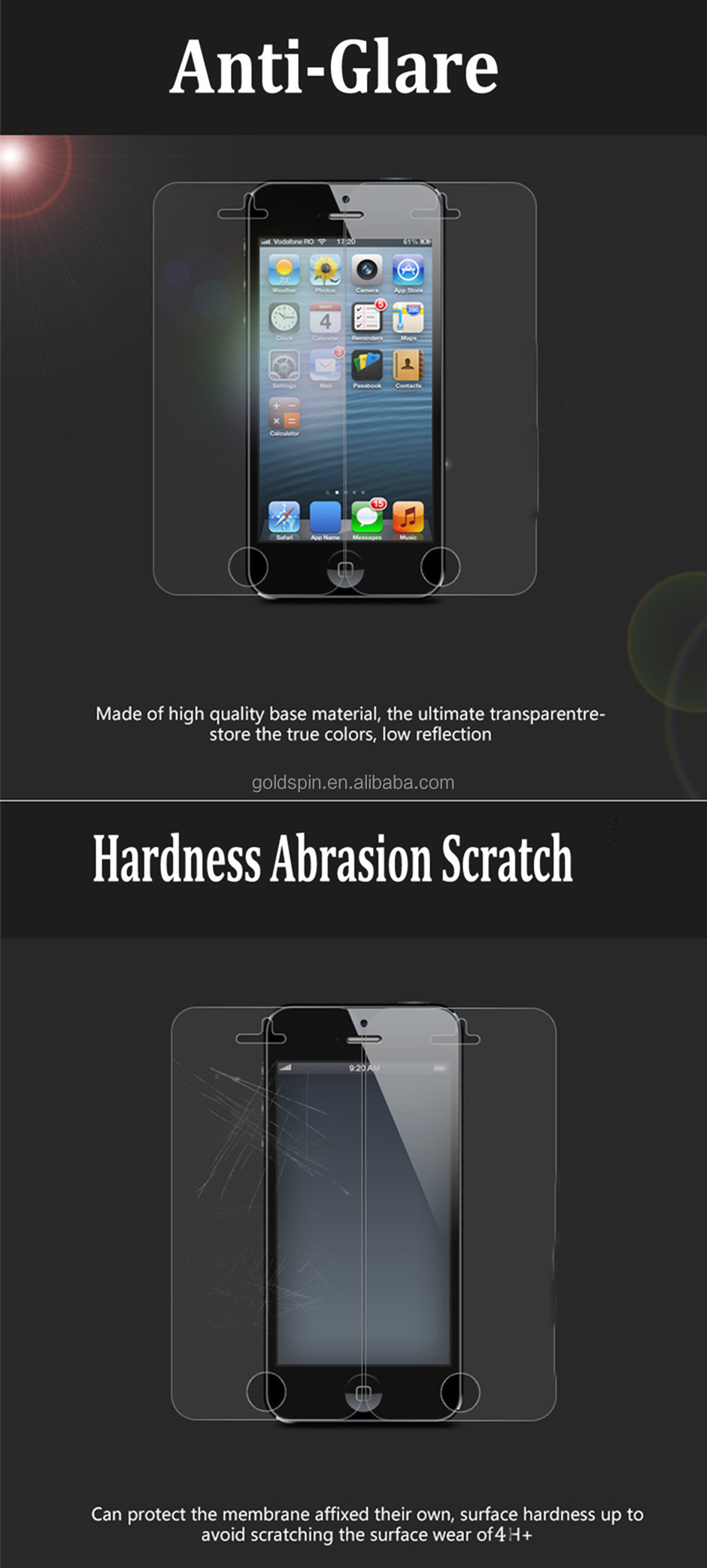 Crystal High Clear Screen Protector For Galaxy S4 Screen Protector Packaging
