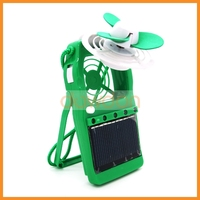 Outdoor Portable Neck Hang Flexible Mini Fan With LED Light Stand