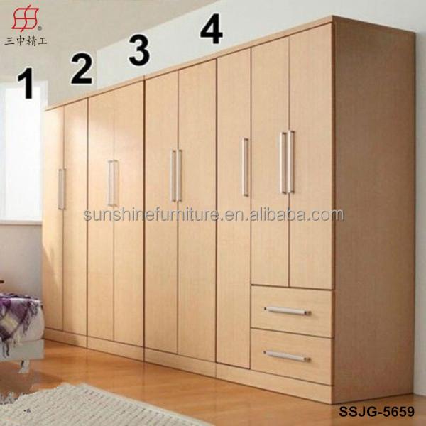pas cher moderne armoire en bois chambre placards