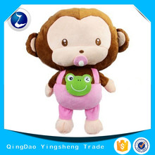 Lovely girl monkey plush toy
