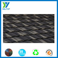 Roman type sand coverd metal roof tile building material price