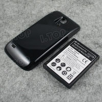 Extended Battery 6300mAh + Black Back Case For Samsung Galaxy S4 SIV mini i9190