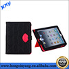 Lovely sex girl's lips wallet leather case for ipad Air.