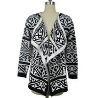 2015 Fashion Design Jacquard Cardigan Sweater Woolen Sweater Designs for Ladies