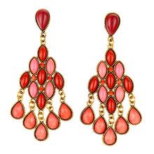 2015 Fashion Bohemian Jewelry Vintage Style Flower Chandelier Dangle Bead Earrings