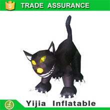 Airblown Inflatable Animated 4 Foot tall Black Halloween Decoration cat