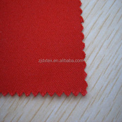 DX hot sales red 100% cotton antifire fleece fabric and water repellent fabric coal and oil worker