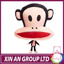 shanghai xinan Soft Baby Plush Monkey Toys Stuffed Monkey Dolls Big Mouth Toys
