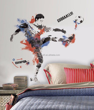 New Giant MEN'S SOCCER WALL DECALS Sports Bedroom Stickers Boys Room Decor