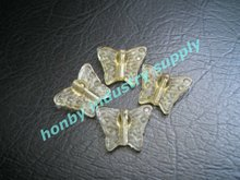 Butterfly shape high transparency fancy crystal beads for home decoration