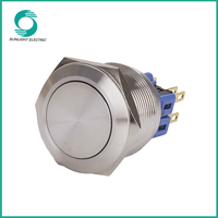 25mm flat silver alloy 4 pole china supplier best price non illuminated 6 volt push button switch