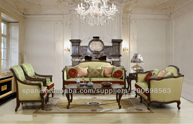 Sof de lujo espa ola para sal n muebles de la sala de for Muebles modernos estilo europeo