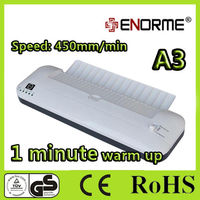 office hot cold Pouch and photo lamination machine with A4 or A3 laminator abs function