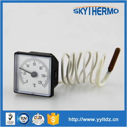 plastic square pressure theory boiler remote reading thermometer with capillary tube