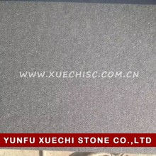 China black absolute black granite flamed with brushed for the stone building material decoration