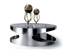 Fabric chrome frame modern Coffee Table