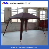 Multifunctional inflatable four legs camping tent