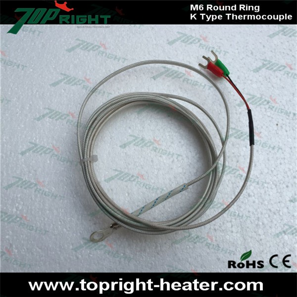 Good Price For M6 Round Ring K Type Thermocouple With Metal Round ...