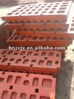 Long Lifetime Manganese Steel Jaw Plates For Jaw Crusher