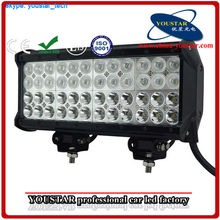 """Factory Supply four rows IP67 144W 12"""" spot, flood, combo beam 12 inch 48 led light bar off road 144w"""