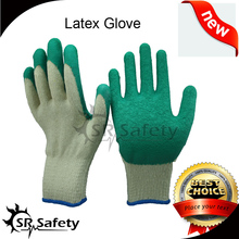 SRSAFETY gloves wholesales in china factory price gloves for lowest price /latex work gloves for safety equipment