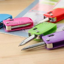 LED light pen Cute car key style ball point pen with handy LED light
